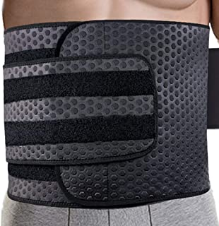 Waist Trimmer for Men | Ab Belt Widening Sauna Trainer with Double Adjusted Straps for Fitness Loss and Back Support Wide Sweat Adjustable Motion Splicing (Best Seller)