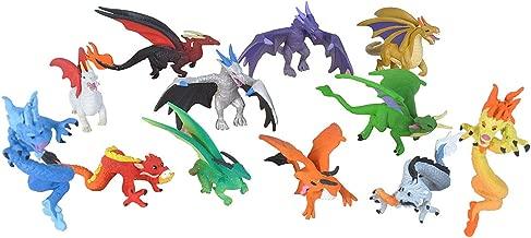 Wild Republic Dragon Figurines Tube, Dragon Toys, Twelve Dragon Figures with Six Different Poses