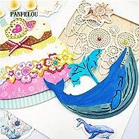 クジラスクラップブッキングDIYハロウィンエンボスモールドカード紙ダイステンシルパンチメタルカットダイカットクリスマス