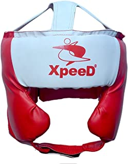 Xpeed Spar Boxing Head Gear Red Open Face Protector Head Guard Light Weight Free Size