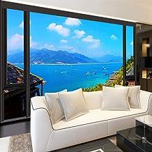 Custom Photo 3D Wallpaper Seascape Modern Minimalist Living Room Non-Woven Mural 3D Wallpaper for Bedroom Walls,200x140cm