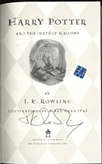 JK Rowling Signed Autographed Harry Potter Deathly Hallows Book 1st Edition JSA