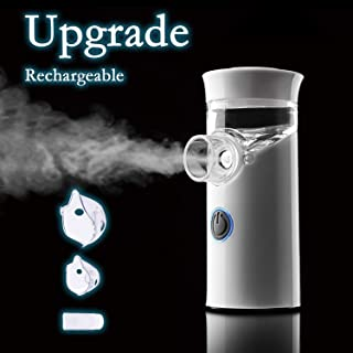 Raycare Handy Portable Vaporizers, Travel Size, USB Mini Humidifier Machine | Handheld Nebulizer Fit for Adult, White