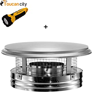 Toucan City LED Flashlight and DuraVent DuraPlus 6 in. Round Chimney Cap 6DP-VC