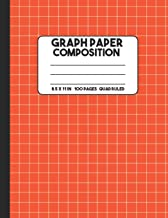 Graph Paper Composition: Orange Composition Notebook, Grid Notebook, 100 Pages, Mathematics Graph Notebook for Math and Science Class