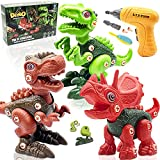 XPNAQI Dinosaur Take Apart Toys for Kids, STEM Learning Construction Building Toys with Electric Drill for 3-8 Years Old Boys and Girls,The Best Birthday Gift for Kids