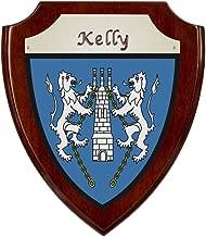 Kelly Irish Coat of Arms Shield Plaque - Rosewood Finish