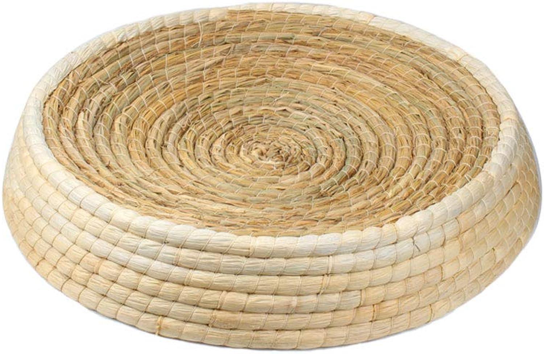 Handmade Rattan Weaving Cat Scratch Board Cat Bed Cat Toy Dog Pet Basket Sofa (Size   52cm)
