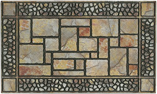 Mohawk Home Doorscapes Manor Patio Stones Entryway Door Mat, 1'7.5x3'11, Multicolor