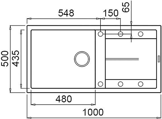 Alluminio Elleci LMU48079 Lavello da Incasso METALTEK