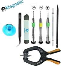 Professional Repair Tool Kit for iPhone,iPad,iPod and Samsung Galaxy with Magnetic Metal Screwdriver,LCD Screen Opening Pliers,Nylon Spudgers,Steel Pry Tool and Anti-Static Tweezer(9 pcs)