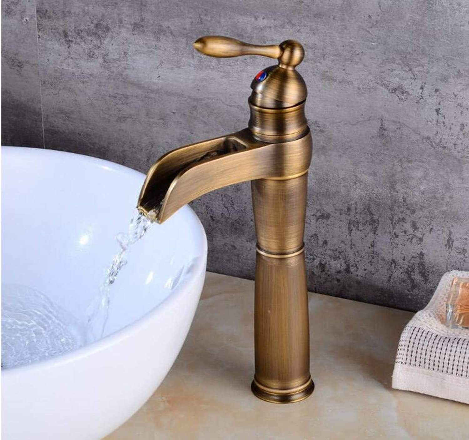 Luxury Modern Faucet Copper Hot and Cold Kitchen Sink Taps Kitchen Faucet Bathroom Antique Waterfall Faucet