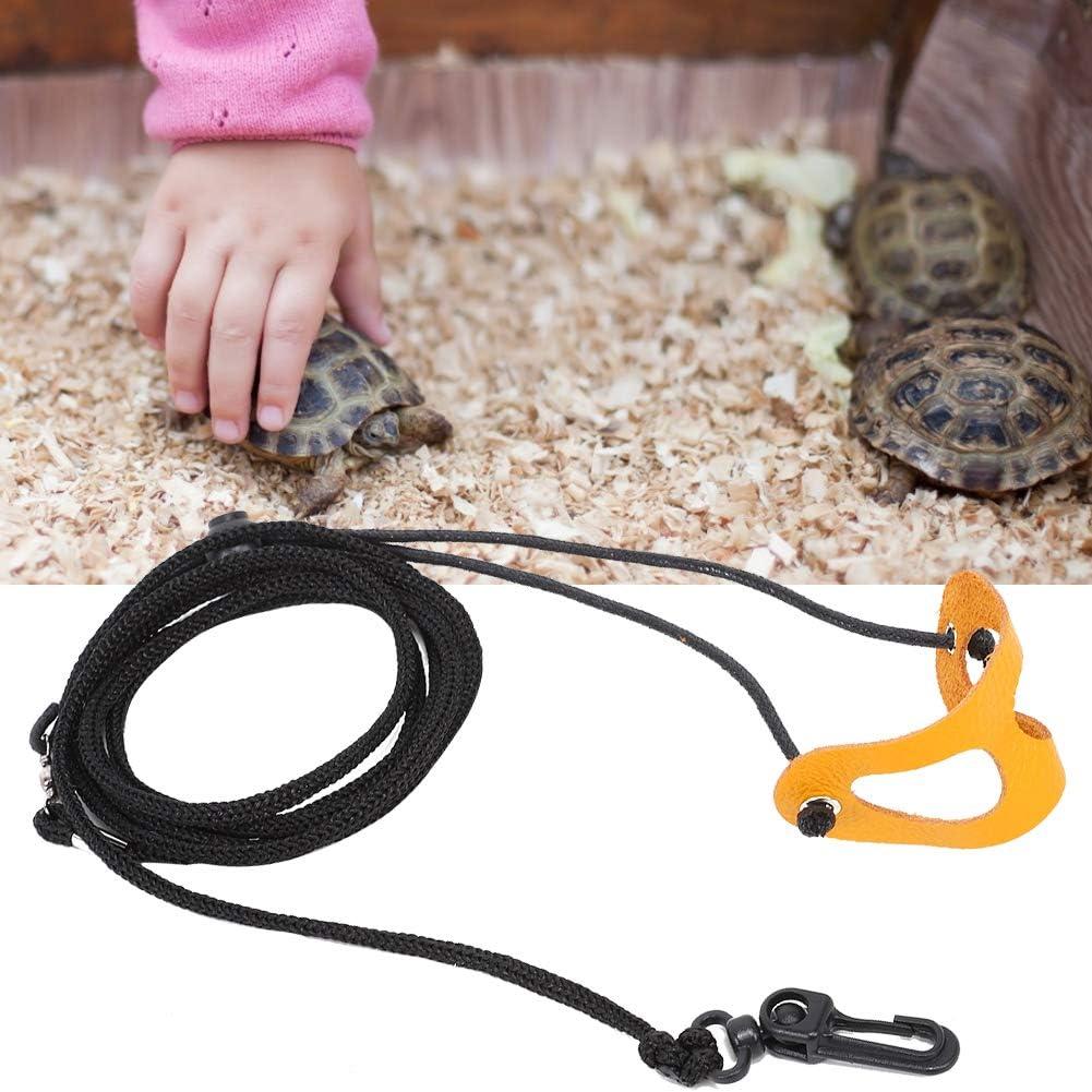 Zerodis Pet Lizard Reptile Leash Cable Ajustable Arn/és liviano Transporte de Cuero Cuerda de tracci/ón Accesorio Animal para Mascotas Animales peque/ños L