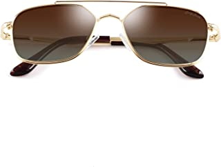 Polarized Square Aviator Sunglasses Polygon for Women Men