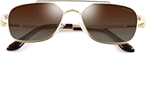 GREY JACK Polarized Square Aviator Sunglasses Polygon for Women Men