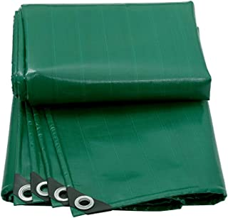 Tarpaulin Thicken Car Truck Waterproof Insulation Shade Outdoor Covering The Rain Roof Push-Pull Shed Parking Shed LIUDINGDING (Color : Green, Size : 4x4m)