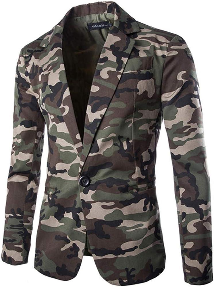 FIRERO Men's Autumn Winter Ranking TOP11 SuitCoat Camouflage Max 52% OFF Long S Jacket