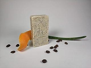 Jabón exfoliante con café, Aloe Vera y naranja 100% natural 65gr