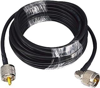 Kaunosta M型ケーブル Mオス⇔Mオス 2m 端子L形 同軸切換器 測定器 SWR計用 (2m)