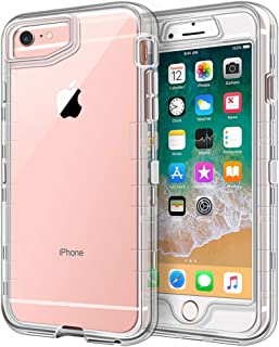 iPhone 6S Case,  iPhone 6 Case,  Anuck Crystal Clear 3 in 1 Heavy Duty Defender Case Shockproof Full-Body Protective Case Hard PC Shell & Soft TPU Bumper Cover for Apple iPhone 6 /iPhone 6S 4.7,  Clear