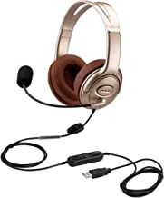 Fone de ouvido USB com cancelamento de ruído do microfone e controles de volume, fone de ouvido de computador PC com micro...