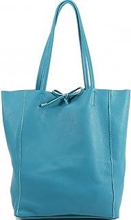 Vera Pelle Damen-Einkaufstasche aus weichem italienischem Echtleder