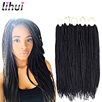 Hair material: Synthetic Fiber,100% Hand Braided, Heat-resistance,Crochet Braid Medium Box Braids Hair Quality: Beautiful,Natural Texture,Lightweight,No Smell,So Pretty And Soft,Neat and Easy To Install,Looks Very Nice and Neat ,Crochet Hair Box Brai...