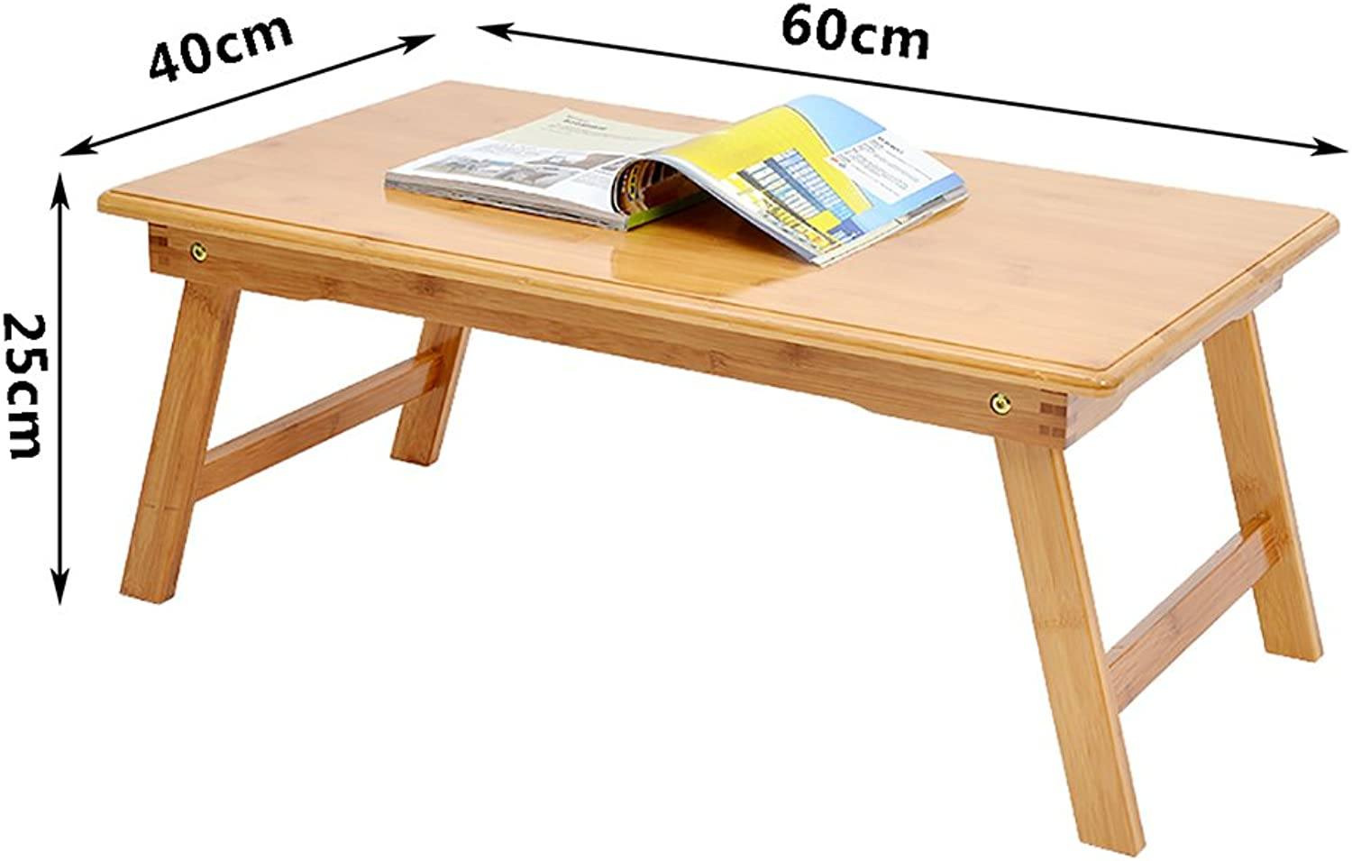 Folding Table Bamboo Laptop Table Tea Table fold Bed Table Living Room Bedroom Portable Table (Size   60  40  25CM)