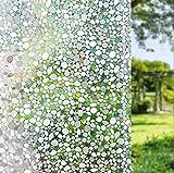 LEMON CLOUD 3D No Adhesivo Ventana Película Estática - Ventana se Aferran Pebble Patrón para Oficina Hogar Decoración y Privacidad Protección 45cmx200cm