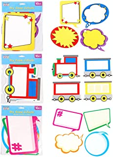 Teacher Building Blocks Dry Erase Cutouts - Superhero, Hashtag, Train - 60 pc Set Classroom Decorations for Teachers