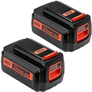2 Packs 2500mAh for Black and Decker 40V Lithium Battery MAX LBX2040 LBX36 LBXR36 LBXR2036