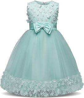 XFentech 赤ちゃん 女の子 ノースリーブ レース ドレス 子供たち 演奏会 発表 会 結婚式 入園式 舞台 パーティー フォーマル エレガント ドレス
