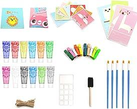 12 Colors Gouache Paint Set Kit 30ml Each Bottle Textile Paint for Canvas Art & DIY Fingers Projects Graffiti Liquid Fluid...