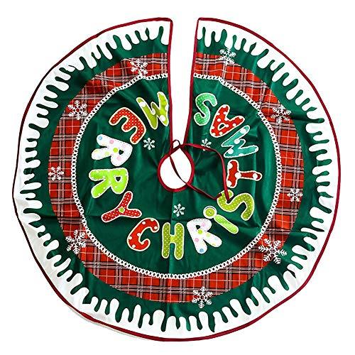 JPYH Copri Base per Albero di Natale, Gonna per Albero di Natale, Copri Base per Albero di Natale 90 cm,Gonna ad Albero di Natale Rustica Xmas Gonna per Albero di Natale Decorazioni Natalizie