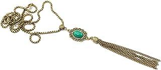 Colar longo de franja verde bijuterias acessorios femininos