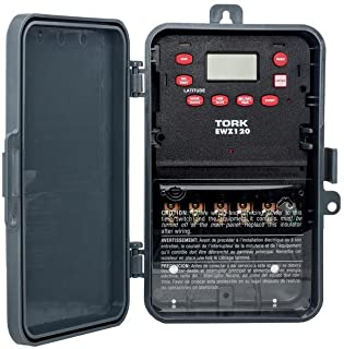 TORK a brand of NSi Industries EWZ Series Multipurpose Control Astronomic 7 Day Time Switch, 120-277 VAC Input Supply, 1 Channel, SPDT Output Dry Contact, #8 - #16 AWG (EWZ120),color