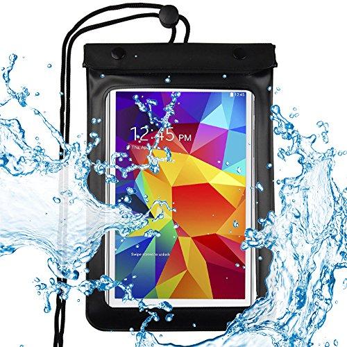 ebuymore 17,8–20,3cm Tablets Wasserdicht Tasche für Samsung Galaxy Tab E 8.0/Tab 47.0/8.0/Tab A 8.0/Neue Dell Venue 7/Dell Venue 8Pro/HP Slate 8Pro/HP/8G2Tablet (Schwarz)
