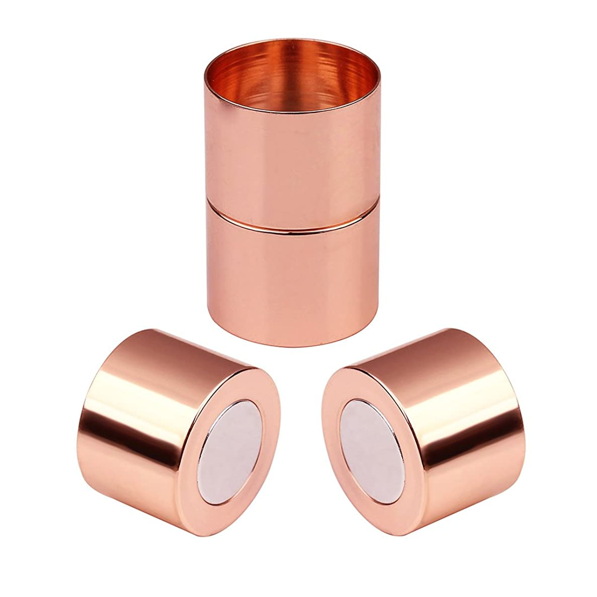 Linsoir Beads Inner Hole 15mm Large Glue-in Magnetic Clasps for 15mm Round Cords 10 Sets