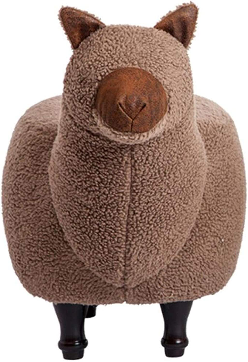 BYPING Pouffes and Footstool Bedroom Camel Cleanable Storage Can Sit Cotton Breathable 2 Styles, 2 colors (color   Brown, Size   50x33x70CM)