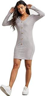 فستان سهرة ضيق جذاب قصير بكسرات للحفلات الصغيرة كم طويل للنساء
