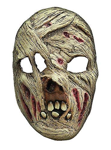 Mumie Maske des Grauens aus Latex - Erwachsenen Horror Kostüm Maske - ideal für Halloween, Karneval, Motto- & Grusel-Party