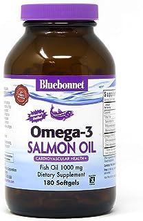 BlueBonnet Natural Omega-3 Salmon Oil Softgels, 180 Count, White