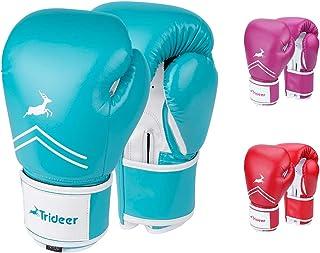 Trideer Pro Grade Boxing Gloves for Men & Women, Kickboxing Bagwork Gel Sparring..