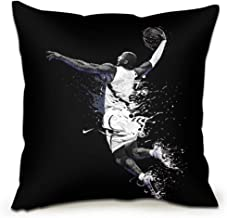 Basketball Art Deco Square Throw Pillow Case +Pillow Insert Soft Decorative Cushion Covers Pillowcases for Sofa Bedroom wi...