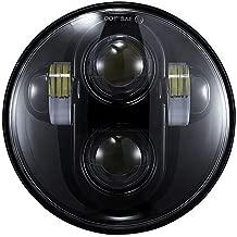 TRUCKMALL 5.75 inch LED Headlight DOT Bulb Light Kit Set Headlamp for Harley Davidson Dyna Street Bob Super Wide Glide Low Rider Night Rod Train Softail Deuce Custom Sportster Iron 883 (Black)