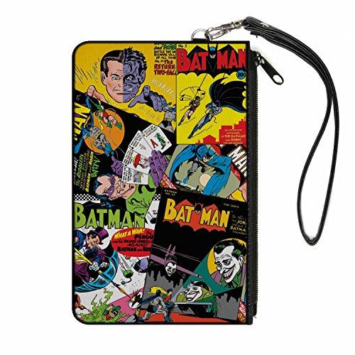 Buckle-Down Buckle-Down portafolios con cierre Batman grande accesorio, Batman, 8″ x 5″, Multicolor, 8″ x…