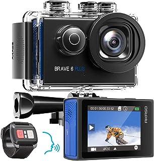 AKASO Action Cam Native 4K 20MP Action Camera WiFi 40M onderwatercamera waterdicht EIS touchscreen met 8X Zoom spraakbestu...