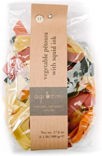 Agrozimi - Vegetable Pétoura with Squid Ink - Greek Traditional Pasta - 500g/17.6oz