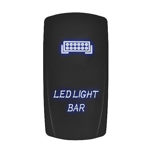 Eyourlife Interrupteur à Bascule Tableau De Bord Contacteurs LED 12V-24V Lumière Bleue pour Voiture Electronique - LED Light Bar