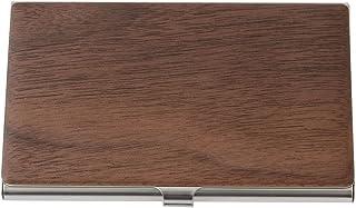 名刺入れ メンズ 木製 ステンレス シンプル シルバー カードケース 男性用 レディース ユニセックス